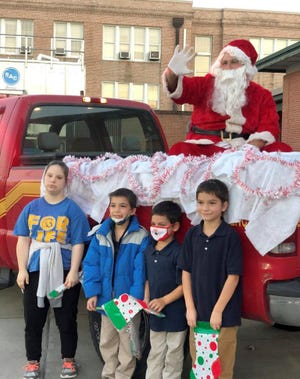 Santa Claus paid a visit to the Special Tuesday drive-through event.