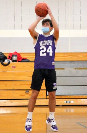 Jack Smith gets in some shooting at a Paupack practice last week. The junior guard is the lone returning starter on the Buckhorns squad this winter.