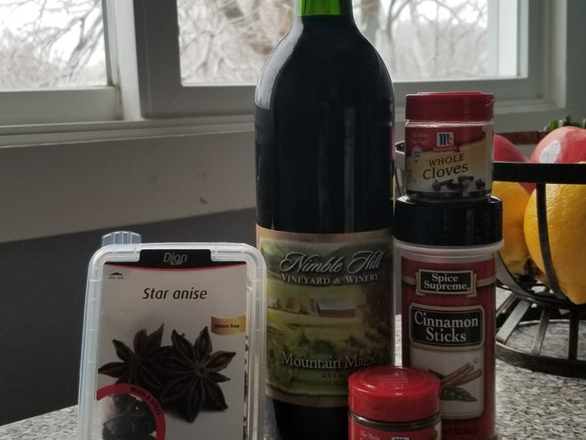 Mulled wine is an easy and delicious drink during winter. Spices like cloves, cinnamon, star anise and allspice are common.