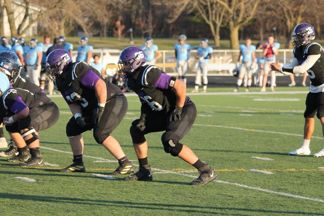 Max Drebenstedt (73), a graduate of Mediapolis High School, earned first team all-conference honors as an offensive guard for Waldorf University.