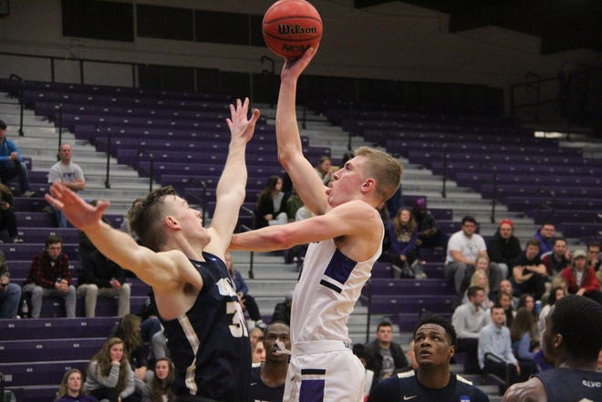 Daily Express file photo of Truman sophomore forward Dylan Peeters, right.