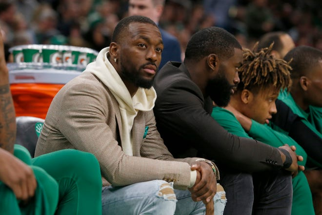 Like this picture from Jan. 18, 2020, Boston Celtics guard Kemba Walker has sat out so far this season due to injury. Walker hopes to rejoin his team soon.