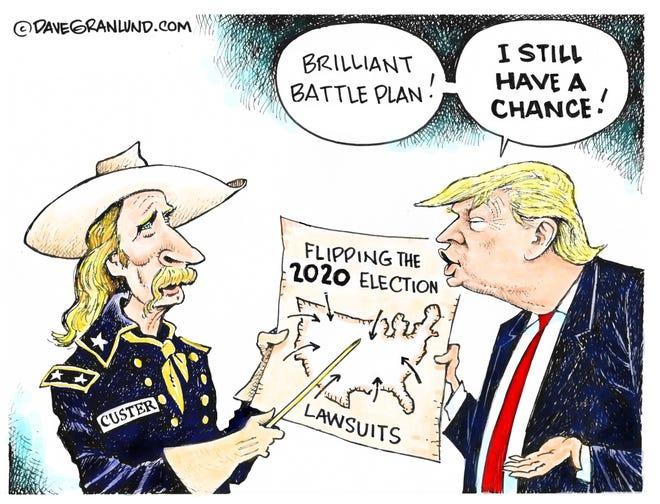 Dave Granlund cartoon on Trump's last stand