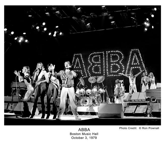 ABBA performing at the Boston Music Hall, Oct. 3, 1979