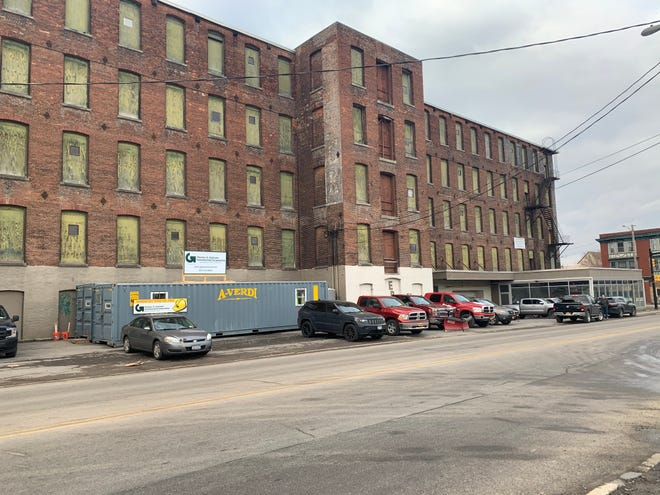 The Utica Steam Cotton Factory will be redeveloped into various commercial spaces and is located across the street from the new downtown hospital.