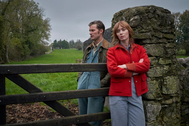 """Jamie Dornan, left, and Emily Blunt in a scene from """"Wild Mountain Thyme."""""""