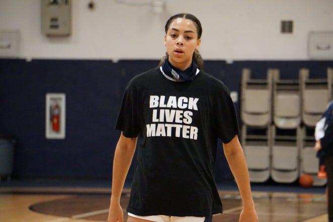 American Heritage  junior Jordana Codio wears a Black Lives Matter shirt before a recent game against Benjamin