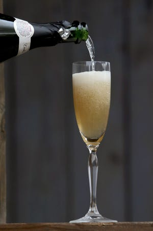 Winter is the time to try warming cocktails like this ognac French 75.