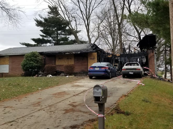 Fire at this home at 1204 48th St. NW in Canton left the Claw family homeless for the holidays.
