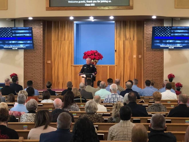 Chief Dan Harris of the Stephenville Police Department was the guest speaker at the Weatherford College Law Enforcement Academy Class 055 graduation on Saturday, Dec. 12. He offered significant words of wisdom and challenged the cadets to make a positive difference.