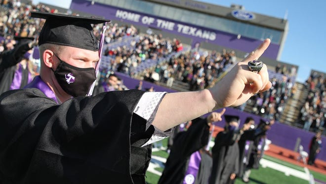 Tarleton State baseball athlete Jake Spence earned his bachelor of science degree in kinesiology at last weekend's commencement.