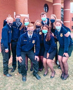 Stephenville High School FFA's SeniorChapter Conducting team was named area championanda state finalist during the Texas FFA's State Leadership Development Events competition held Dec. 1-5.