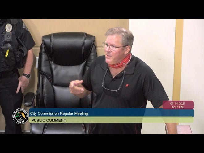John Meisel, president of the West Villagers For Responsible Government, addressed the North Port City Commission in July, when the group presented a petition for the city to contract its boundaries and de-annex the West Villages Improvement District.