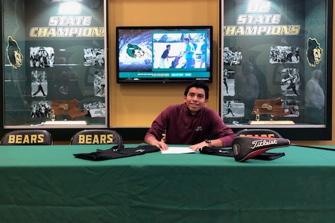GNB Voc-Tech's Adrian Paul signs to play golf next year at Dean College.