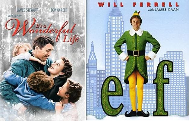 "The Taunton Daily Gazette's Christmas movie tournament is down to just two contenders: ""It's a Wonderful Life"" and Elf."""