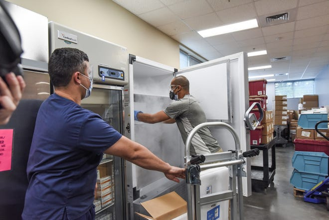 COVID-19 vaccines arrive to Atrium Health in Charlotte on Dec. 14, 2020