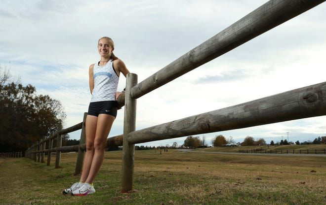 Northridge High School's Mary Mac Collins is the Tuscaloosa News female cross country Super Athlete of the year. She is photographed in Sokol Park Friday, Dec. 11, 2020. [Staff Photo by Gary Cosby Jr.]