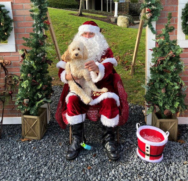 Drop off a gift for homeless families and get your photo taken with the big guy at Santa's Workshop on Birch Avenue this weekend.