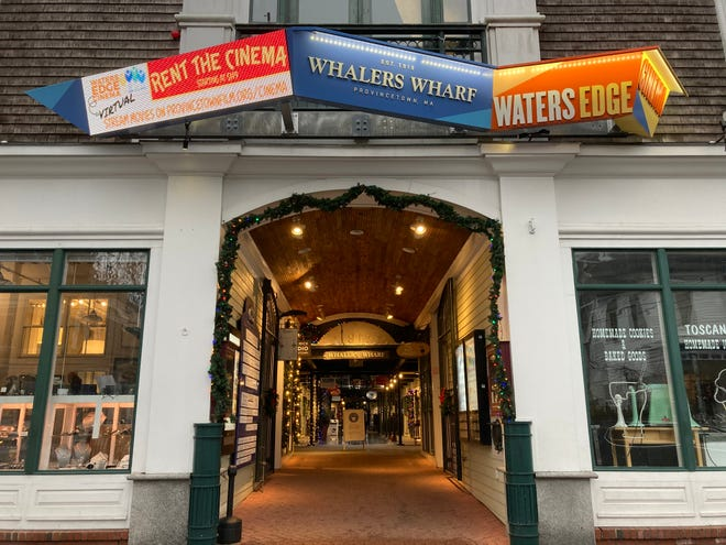 The entrance to Waters Edge Cinema at Whalers Wharf in Provincetown.