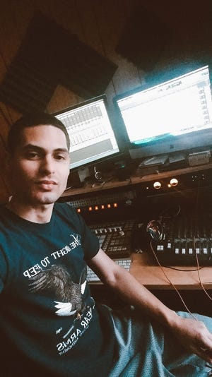 """Egbert """"Eggy"""" Pinero is a coveted hip-hop producer based in Worcester."""