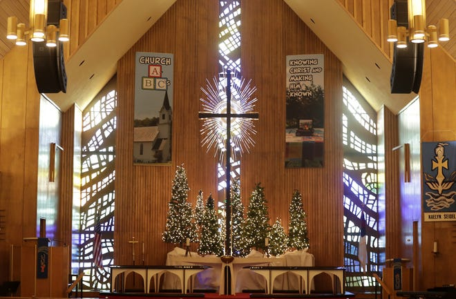 Faith Lutheran Church, 601 E. Glendale Ave. in Appleton, pictured on Dec. 14, is decorated for Christmas.