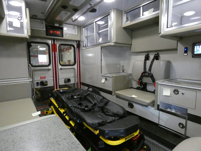 The interior of the Bucyrus Fire Department's new ambulance.