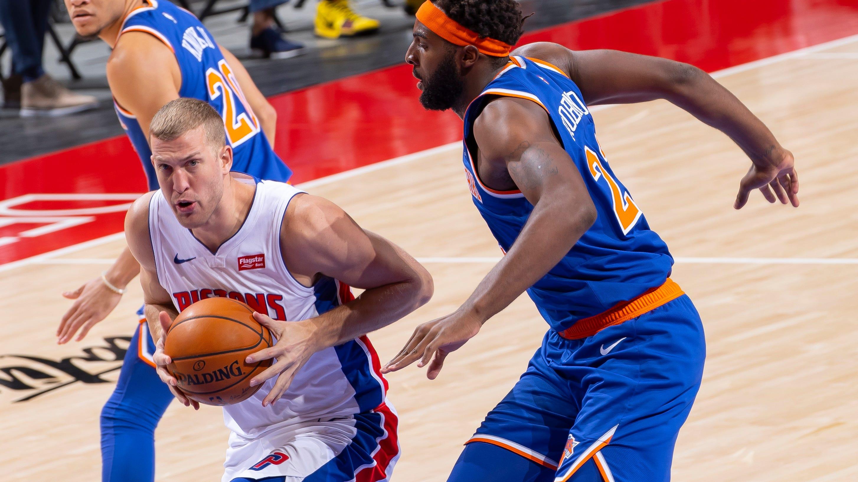 Detroit Pistons' Mason Plumlee talks Derrick Rose, Blake Griffin