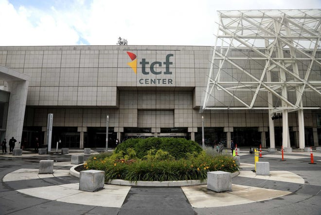 TCF Center is in downtown Detroit