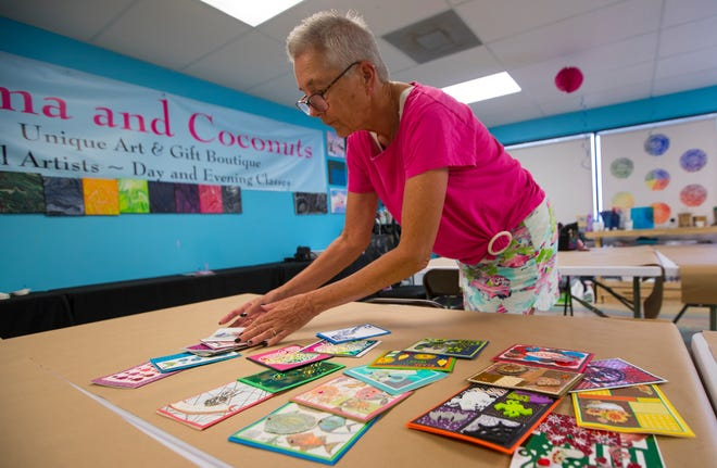 Cape Coral resident Janet Anderson is an art instructor at Karma and Coconuts where she teaches how to create custom cards.