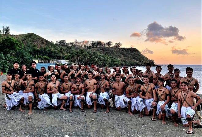 Members of Inetnon Gefpå'go's Southern High School Chapter pose for a picture during Chamorro Heritage Day Festivities before the island shut down due to the pandemic.
