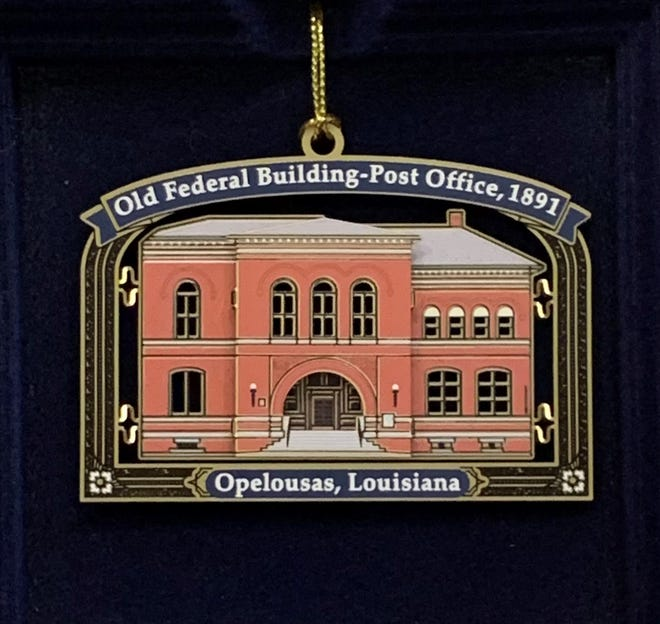 Opelousas Main Street, Inc. and the City of Opelousas Tourism released the 2020 Christmas collectible holiday ornament featuring the historic Federal Building-Post Office.