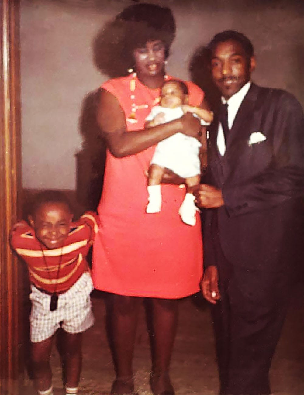 Otha R. and James D. Causey pose for a photo with their son, James E. Causey, on his first birthday Aug. 1, 1970. With them is their nephew, Chris McKnight.