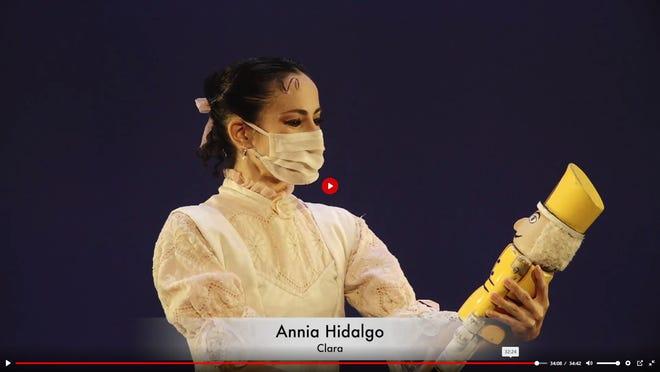 "Dancer Annia Hidalgo portrays Clara in Milwaukee Ballet's ""The Nutcracker: Short & Sweet."""