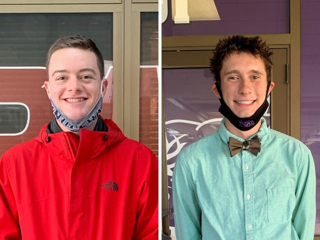 Samuel Coffman of Wapahani High School (left) and Samuel Voss of Muncie Central High School (right) are recipients of the 2021 Lilly Endowment Community Scholarship.