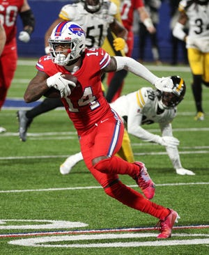 Bills receiver Stefon Diggs was named an NFL All-Pro Friday after leading the league in receptions and receiving yards.