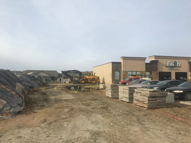 The new retail space will be added alongside the Faith Baptist Fellowship building on the southern edge of the property.