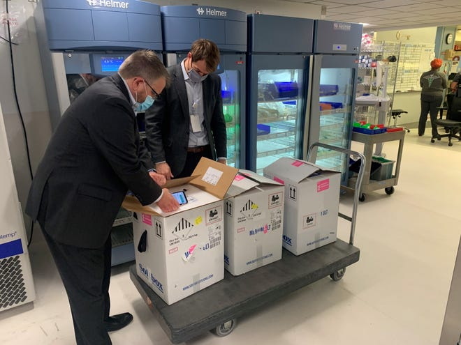 Sentara Healthcare has received its first shipment of 11,700 doses of the Pfizer COVID-19 vaccine on Monday, Dec. 14, 2020.
