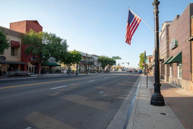CLOVIS, CA - JULY 17: Old Town Clovis is seen on July 17, 2018 in Clovis, California.