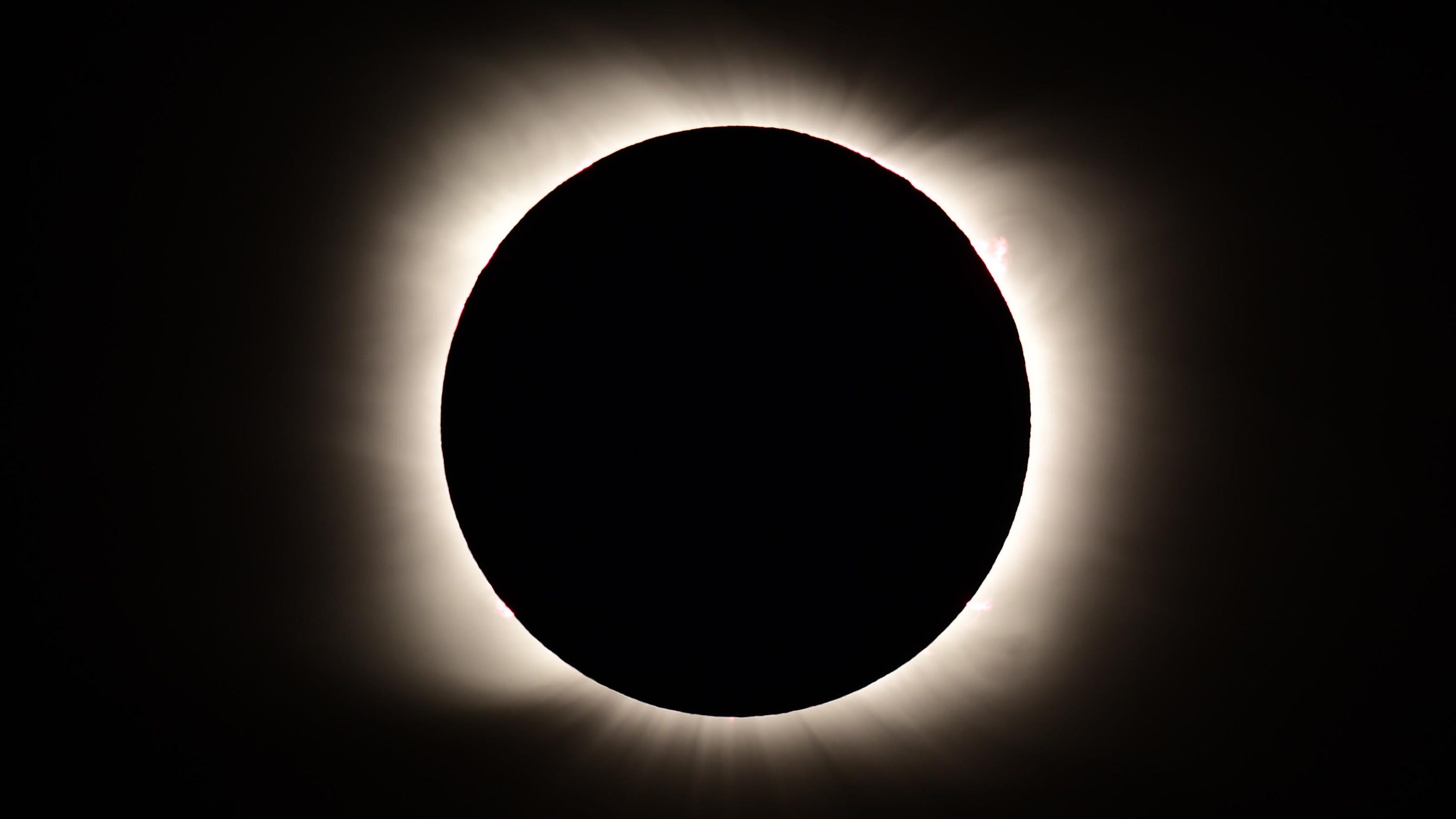 'Awe inspiring' photos of the only total solar eclipse of 2020