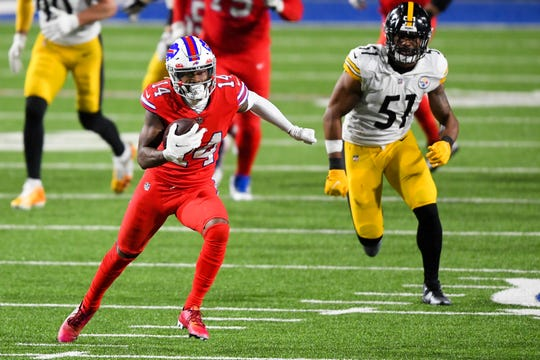 Buffalo Bills wide receiver Stefon Diggs grabbed 10 passes for 130 yards and a touchdown in the win against the Pittsburgh Steelers.
