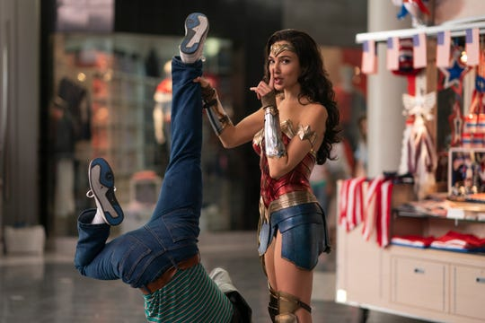 "Gal Gadot's superheroine busts up a mall heist in the sequel ""Wonder Woman 1984."""