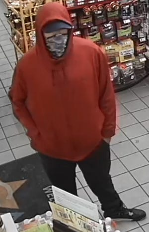 San Marcos police are looking for a man in connection to a robbery that occurred on Friday.