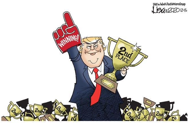 Editorial cartoon: Winning