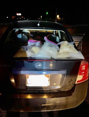 The Bastrop County sheriff's office seized about 15 ½ pounds of meth and arrested two people from the Houston area during a traffic stop near Paige last week, the sheriff's office said.