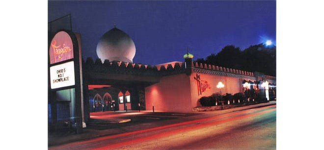 Akron landmark Tangier at 532 W. Market St. has a Moroccan theme. The distinctive blue dome was added during a $5 million expansion in 1976.