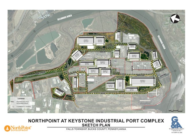 The Falls supervisors Monday night approved the master plan for a massive redevelopment of the U.S. Steel property.