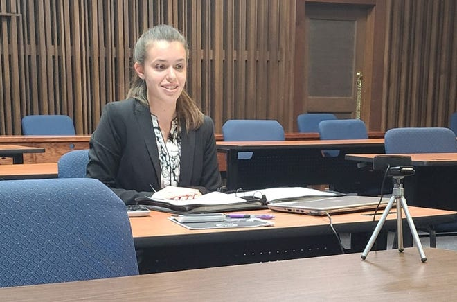 Sierra Ross of Galveston was recognized as a Distinguished Delegate during the virtual Northwest Model United Nations (NWMUN) conference.