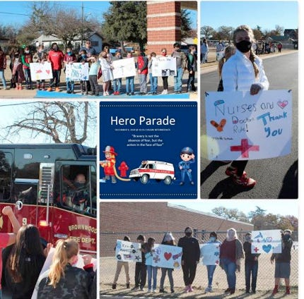 The BISD provided a montage of the Hero Parade.