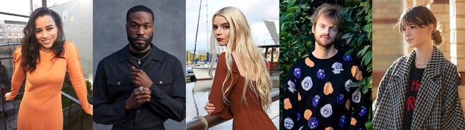 This combination photo shows The Associated Press' Breakthrough Entertainers of 2020, from left, Sarah Cooper, Yahya Abdul-Mateen II, Anya Taylor-Joy, Finneas O'Connell and Daisy Edgar Jones. (AP Photo)