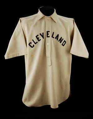 Cy Young's Cleveland Spiders jersey in the National Baseball Hall of Fame and Museum, Cooperstown, New York